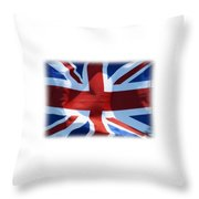 British Union Jack Flag T-shirt Throw Pillow