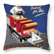 British Vacuum Cleaner Vintage Advert 1910 Throw Pillow