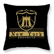 Brooklyn New York Bridge Pride Icon Throw Pillow