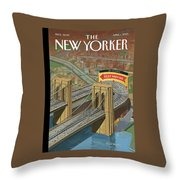 Brooklyn Or Bust Throw Pillow
