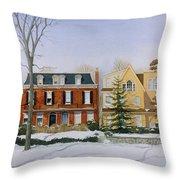 Broom Street Snow Throw Pillow