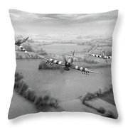 Brothers In Arms Bw Version Throw Pillow
