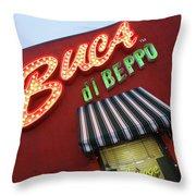 Buca Di Beppo Throw Pillow