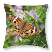 Buckeye In Autumn Throw Pillow