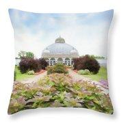 Buffalo Botanic Gardens Conservatory Throw Pillow