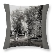 Building And Nature Throw Pillow