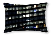 Building At Night In Tokyo Throw Pillow