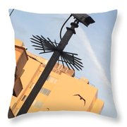 Buildings At Sunrise Throw Pillow
