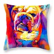 Bulldog 4 Throw Pillow