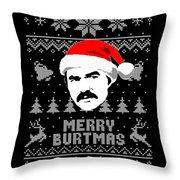 Burt Reynolds Christmas Shirt Throw Pillow