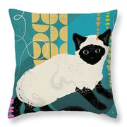 Buster The Shelter Cat Throw Pillow