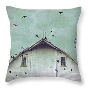 Busy Barn Throw Pillow