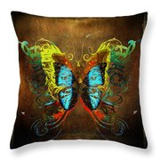 Butterfly Abstract Throw Pillow