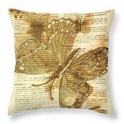 Butterfly Antiquities Throw Pillow
