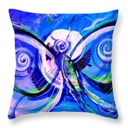Butterfly Blue Violet Throw Pillow