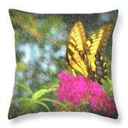 Butterfly Likeness  Throw Pillow