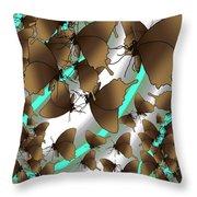 Butterfly Patterns 2 Throw Pillow