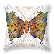 Butterfly Zen Meditation Abstract Digital Mixed Media Artwork By Omaste Witkowski Throw Pillow by Omaste Witkowski