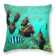 Butterflyfish And Sergeant Major Throw Pillow