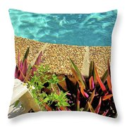 By The Pool Throw Pillow