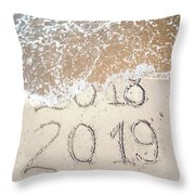 Bye Bye 2018 Welcome2019 Throw Pillow