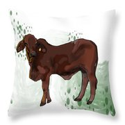 C Is For Cow Throw Pillow
