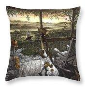 Cabin Fever Throw Pillow by Clint Hansen
