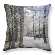 Cabin In The Smoky's II Throw Pillow