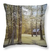 Cabin In The Smoky's Throw Pillow