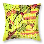 Cactus Carnival Throw Pillow