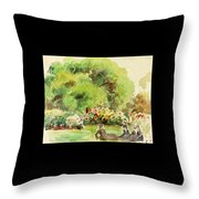 Cagnes Landscape Throw Pillow