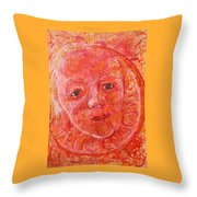 California Clementine Throw Pillow