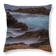California Coastal Water Motion Throw Pillow