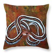 California Garter Snake Throw Pillow