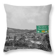California Highway 101 Throw Pillow