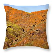 California Poppy Hills Throw Pillow