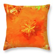 California Poppy Inside Throw Pillow