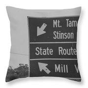 California State Sign Throw Pillow