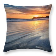 California Sunset V Throw Pillow
