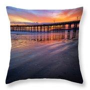 California Sunset Vii Throw Pillow
