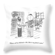 Call Me Michael Throw Pillow