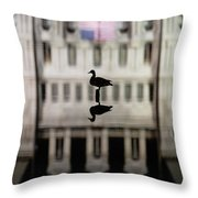 Calm Before The Storm Throw Pillow by Brad Wenskoski