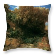 Campagna Landscape 1858 Throw Pillow