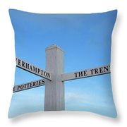 Canal Side Fingerboard Throw Pillow