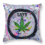 Cannabis With Love Throw Pillow