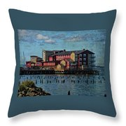 Cannery Pier Hotel Throw Pillow