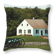 Cannons At Dunker Church Throw Pillow