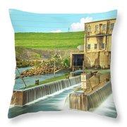 Canyon Lake Spillway Throw Pillow