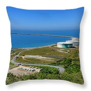 Cap Antifer Oil Terminal  Throw Pillow