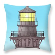 Cape Hatteras Lamp House Throw Pillow